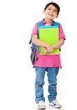Boy thinking about school