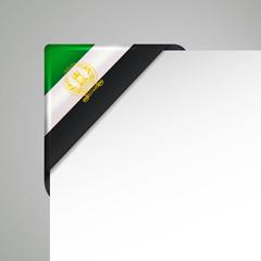 afghanistan metallic vector corner