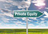 "Signpost ""Private Equity"""