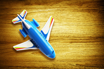 toy plane on desk