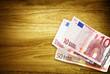 euros on desk