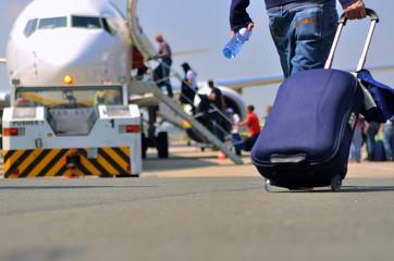 Flugreise in den Urlaub