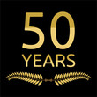 Golden laurel wreath 50 years