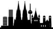 Köln Skyline mit Wahrzeichen