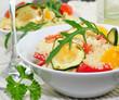 Couscous , Salat mit Rucola