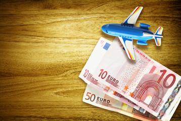 euros and plane