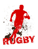Fototapety Dirty Rugby Player