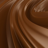 Fototapety Liquid Chocolate background. Choco wave swirl.