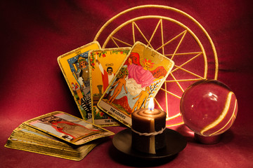 Tarot cards and crystal ball (3)