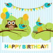 Party birds card