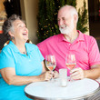 Senior Couple on Date - Laughing