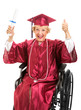 Elderly Graduate in Wheelchair