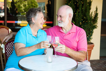 Seniors on Romantic Date