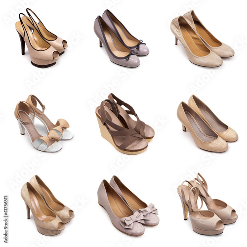 Beige-brown female shoes-1