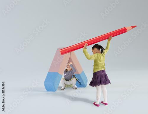 Les fournitures scolaires : la gomme