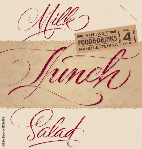 vintage menu headlines set (vector)