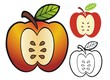 Apple emblem with variations.