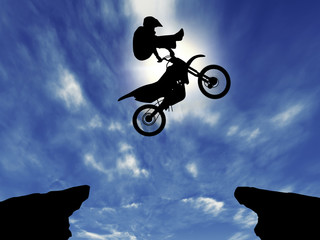 Silhouette *** MOTORCYCLE jump