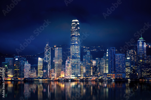 canvas print picture Hong Kong Lights