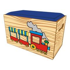 Spielzeugkiste aus Holz