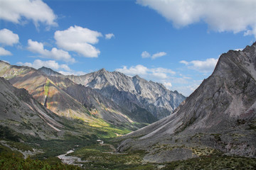 Siberian mountain landscape
