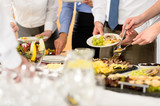 Fototapety Business catering food for company celebration