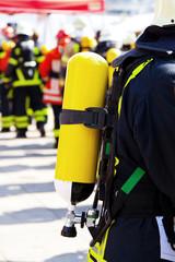 Firefighters on duty