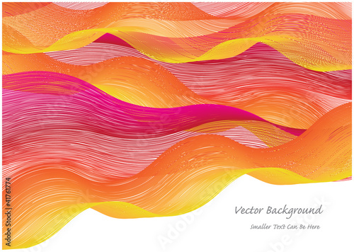 abstract vector background with colorful waves