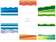 various vector backgrounds with abstract waves