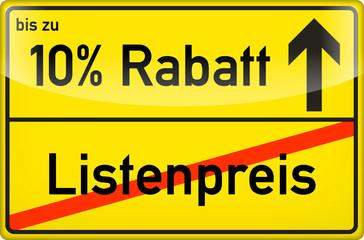 10 % Rabatt