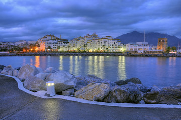 Puerto Banus by night,Costa del Sol,Spain