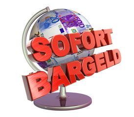 3D Geldglobus - SOFORT BARGELD