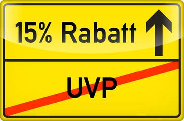 15 % Rabatt