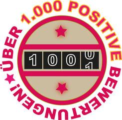 Über 1000 positive Bewertungen