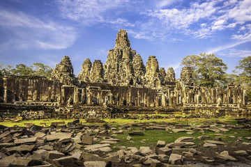 Bayon temple, Angkor Wat, Cambodia, South East Asia.