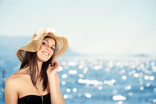 Girl in beach