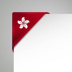 hong kong metallic vector corner
