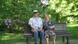 Senior couple in the park