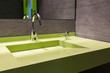 modern green washing basin with faucet