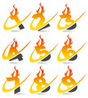 Swoosh Flame Numbers Set 4