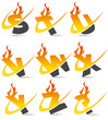 Swoosh Flame Alphabet Set 3