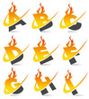 Swoosh Flame Alphabet Set 1