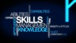 Skills management knowledge ability tag cloud animation
