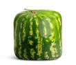 Square Watermelon on white background, concept