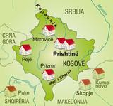 Map of  Kosovo as an internetmap poster