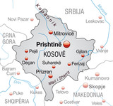 Map of  Kosovo with neighboring countries poster