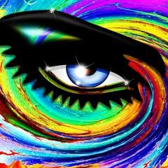 Occhio Ipnotico Psichedelico-Hypnotic Psychedelic Girl's Eye