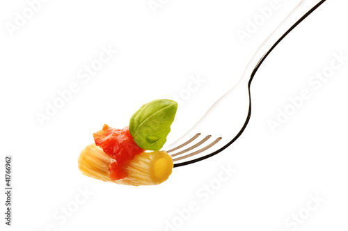 Macaroni with tomato sauce