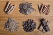 Schokolade in verschiedenen Formen (chocolate pieces)