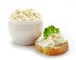 bread with fresh cream cheese